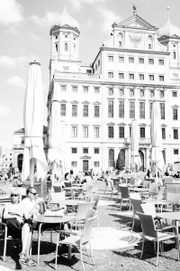 Cafes in the square