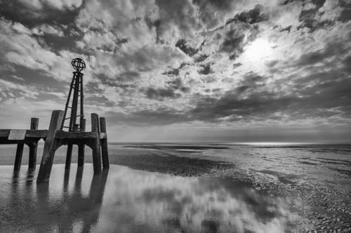 Dramatic old pier