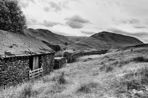 Hills and old barn