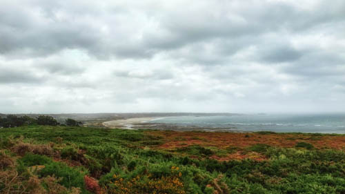 The wide expanse of St Oeun coast