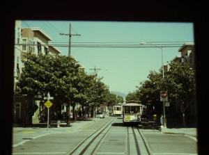 The iconic San Francisco cable cars