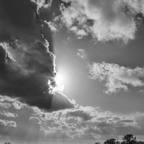 Sun and cloud, Cheshire hills