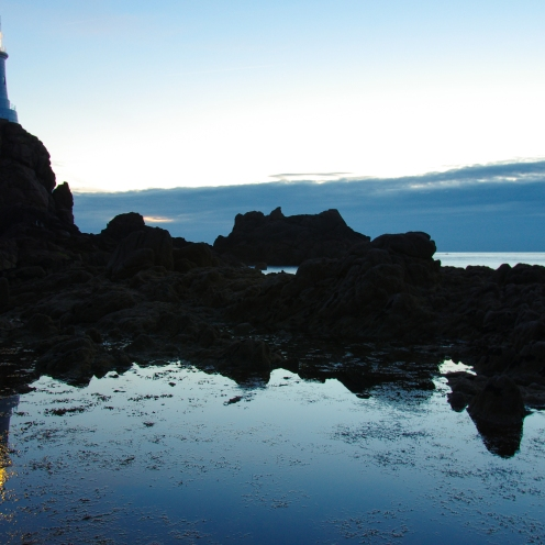 Lighthouse silhouette, Jersey