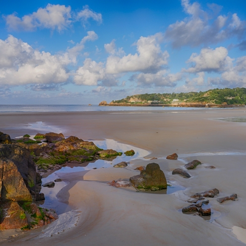 Morning sun on St Brelades Bay, Jersey