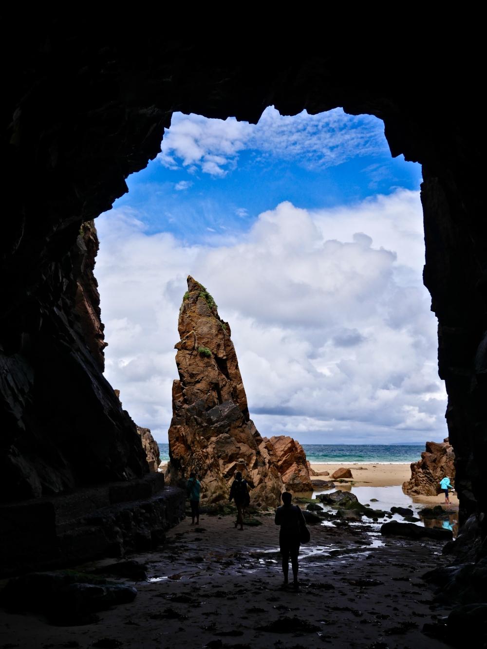 Large cave at St Plemont Bay