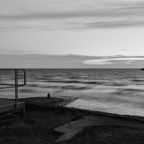Jersey high tide seascape long exposure