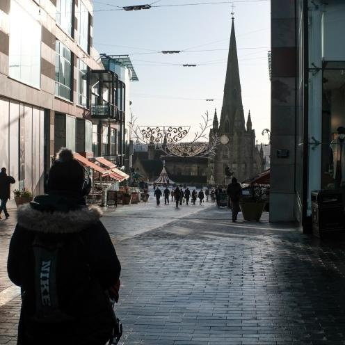 A stroll down towards the church, Birmingham centre