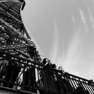 Eiffel Tower - looking up