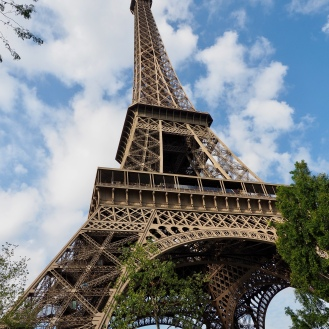 Eiffel Tower from ticket queue