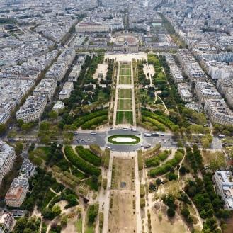 Champs de Mars from Eiffel Tower