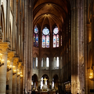 Notre Dame - Soaring pillars and windows