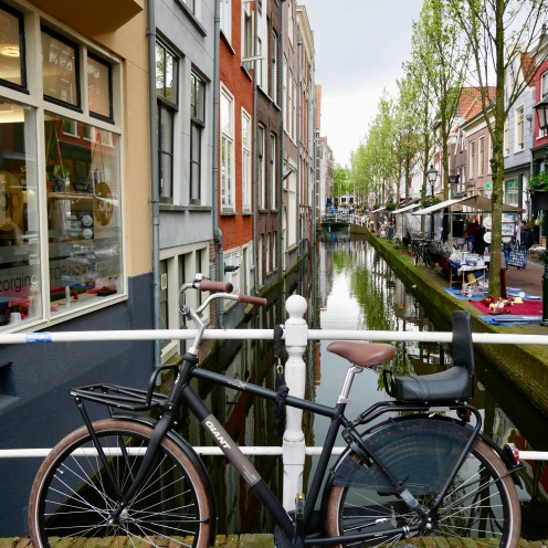 Bycicle and canal, Amsterdam