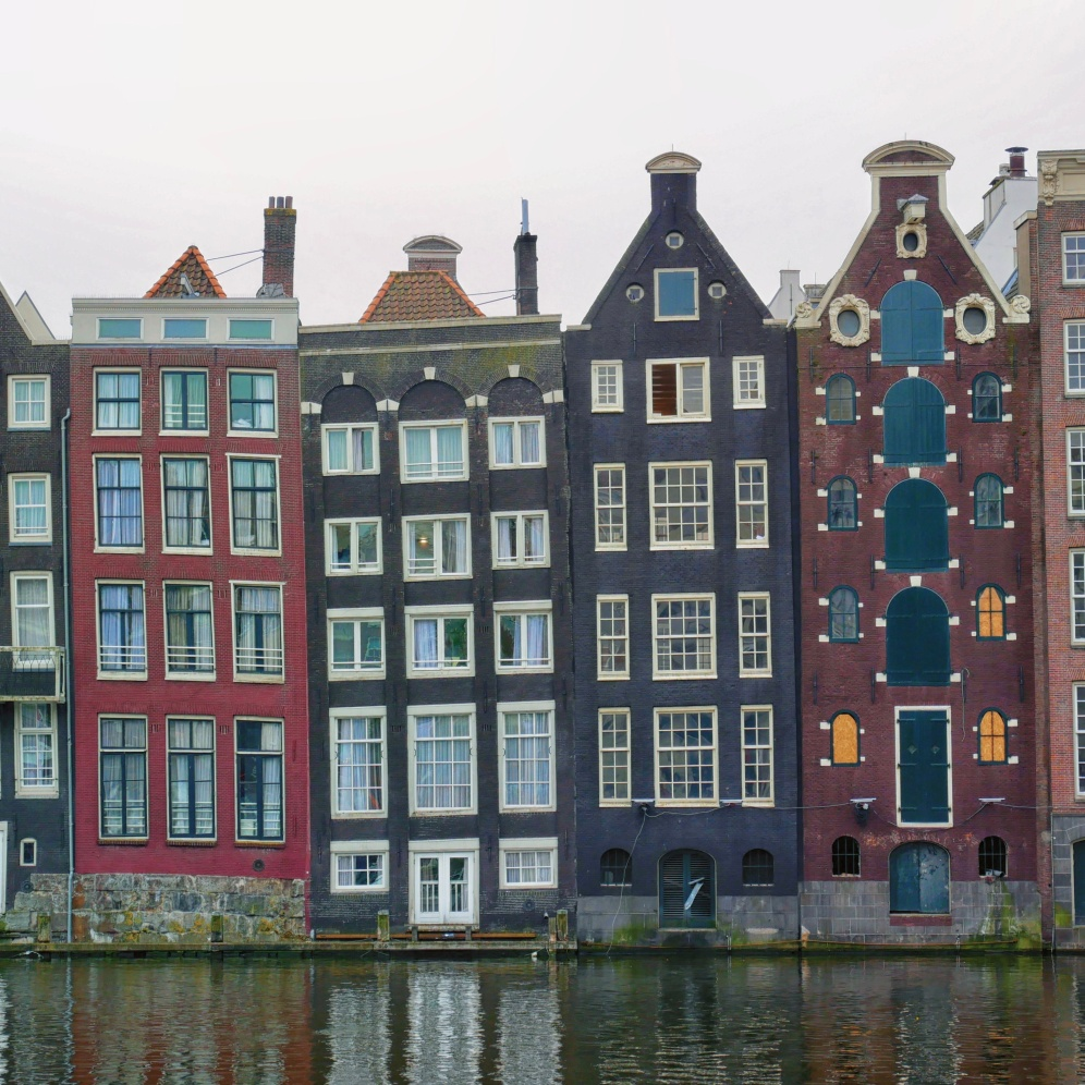 Colourful houses in Amsterdam