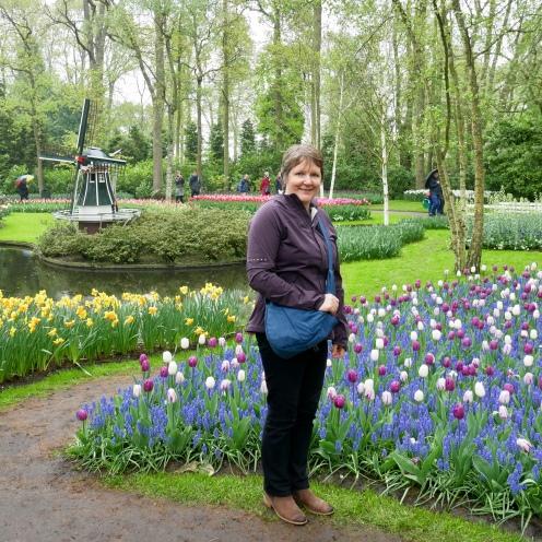 Karen at Keukenhof Gardens, Holland