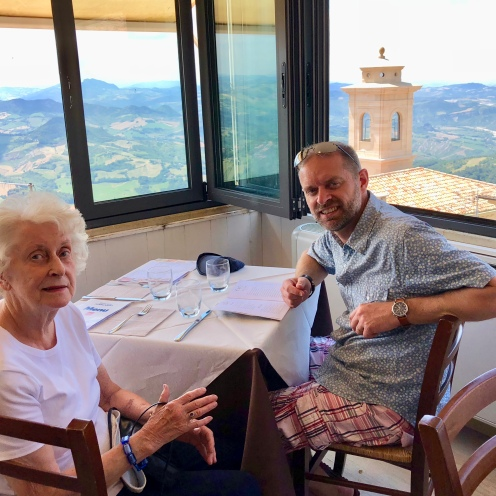 San Marino cafe with a view, Italy