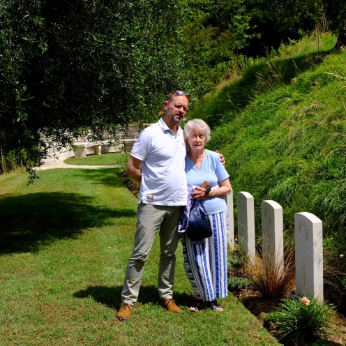 By my great uncle Gordon's grave, Gradara, North Italy