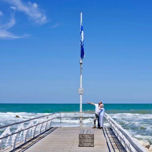 Rimini pier, Italy