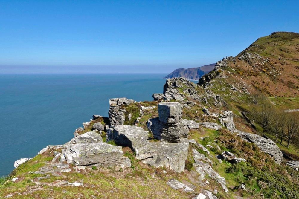 Valley of rocks towards Lynton coast