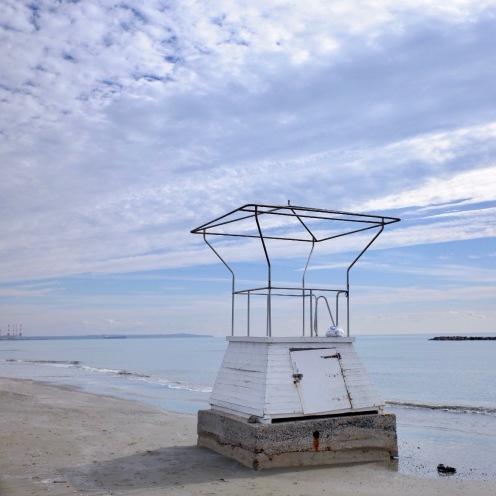 Lifeguard tower and beach, Larnaca, Cyprus