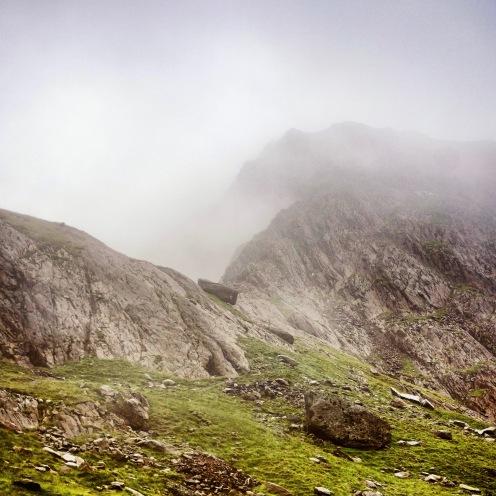 Hills and mist, Snowdon