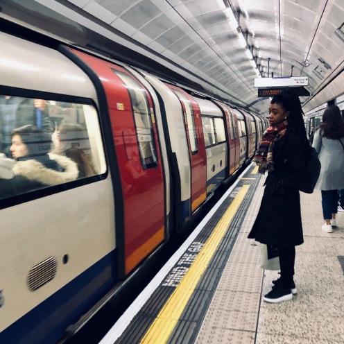 Lady in underground