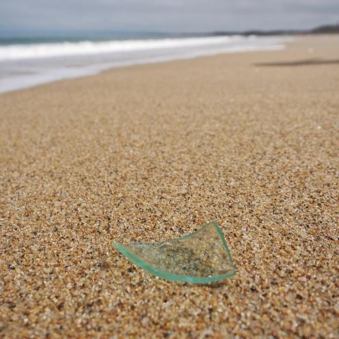 Glass and beach, Monterey, California