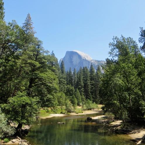 Yosemite valley and Half Dome rock