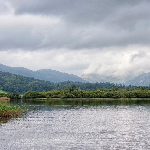 Lake looking towards the Langdales, Cumbria