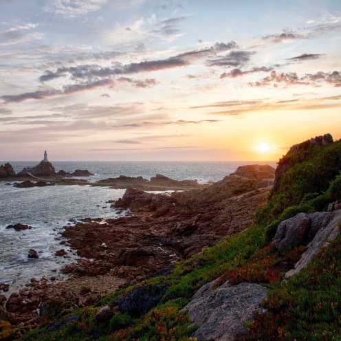 Sunset over Corbiere, Jersey