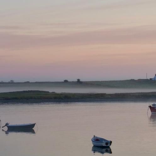 Misty shoreline, Lindisfarne